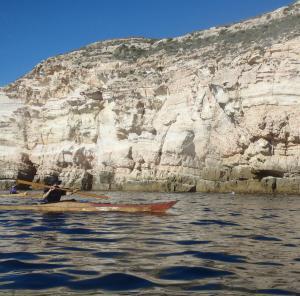 2 nautilus wooden kayaks Cabo de gata 2017