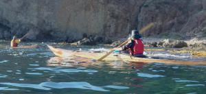 2 nautilus wooden kayaks Cabo de gata 2017 entre las rocas